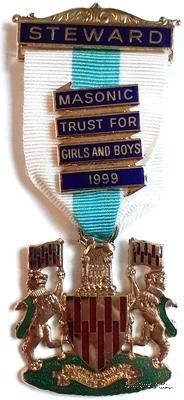 Знак STEWARD Masonic Trust for Girls and Boys.